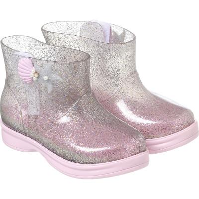 Galocha Infantil WorldColors Mia Baby - Gliter Prata/Rosa BB