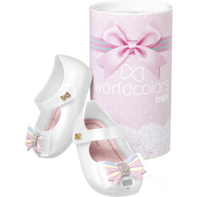 Sapatilha Infantil WorldColors Angel Baby - Branco