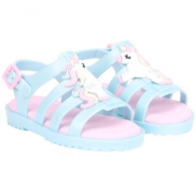 Sandália Infantil WorldColors Lilly Baby - Azul Perolado