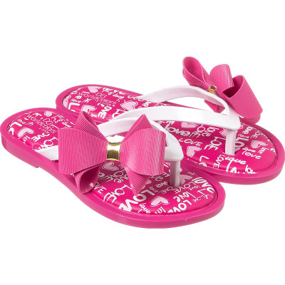 Chinelo Infantil WorldColors Sol Kids - Pink/Branco