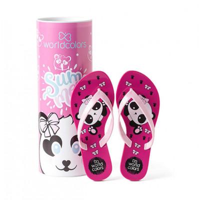 Chinelo Infantil WorldColors Summer Kids - Pink/Rosa BB
