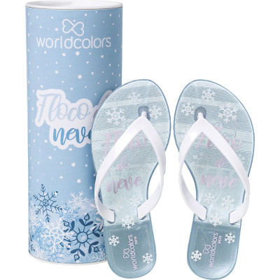Chinelo Infantil WorldColors Summer Kids - Azul Frozen/Branco