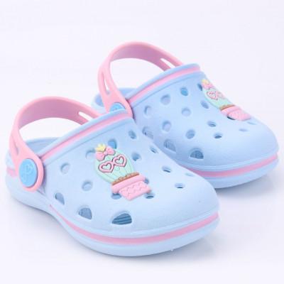 Babuche Infantil WorldColors Pop Baby - Azul Ceu/Rosa