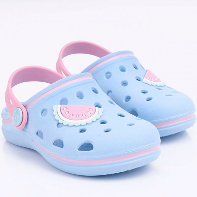 Babuche Infantil WorldColors Pop Baby - Azul Acqua/Rosa