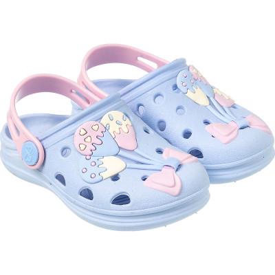 Babuche Infantil WorldColors Pop Baby - Azul Céu/Rosa BB