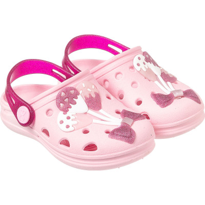 Babuche Infantil WorldColors Pop Baby - Rosa BB/Gliter Pink