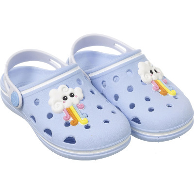 Babuche Infantil WorldColors Pop Baby - Azul Céu/Branco