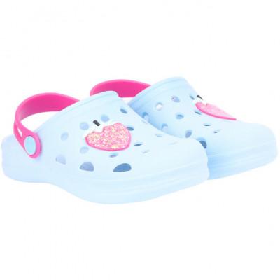 Babuche Infantil WorldColors Pop Kids - Azul Céu/Pink