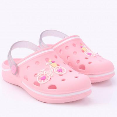 Babuche Infantil WorldColors Pop Kids - Rosa/transparente Gliter