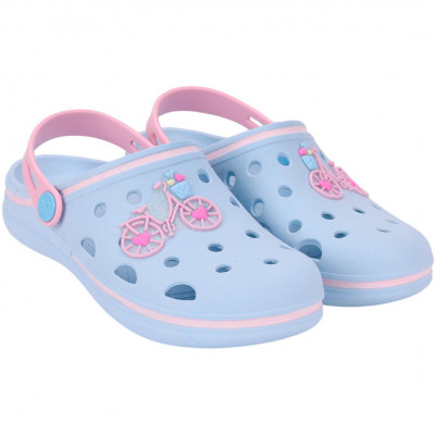 Babuche Infantil WorldColors Pop Kids - Azul Ceu/rosa
