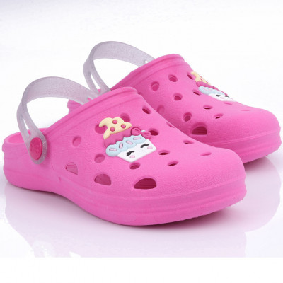 Babuche Infantil WorldColors Pop Kids- Pink/transparente Gliter