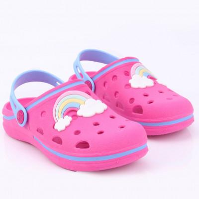 Babuche Infantil WorldColors Pop Kids - Pink/Azul Ceu