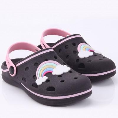 Babuche Infantil WorldColors Pop Kids - Preto/rosa