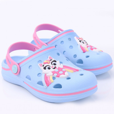 Babuche Infantil WorldColors Pop Kids- Azul Acqua/rosa Candy