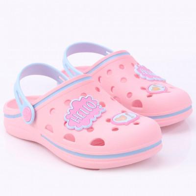 Babuche Infantil WorldColors Pop Kids - Rosa/azul Acqua