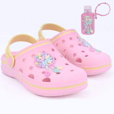 Babuche Infantil WorldColors Pop Kids - Rosa/yellow Candy