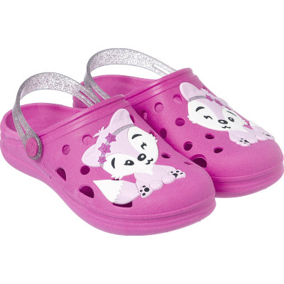 Babuche Infantil WorldColors Pop Kids - Pink/Gliter Prata