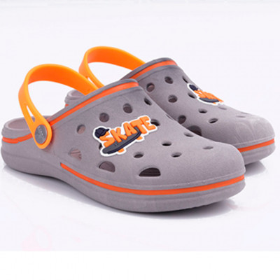 Babuche Infantil Wboys Pop Kids - Chumbo/laranja