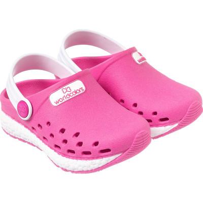 Babuche Infantil WorldColors Pop Sport Baby - Pink/Branco