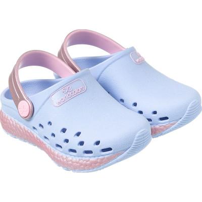 Babuche Infantil WorldColors Pop Sport Baby - Azul Céu/Rosa BB