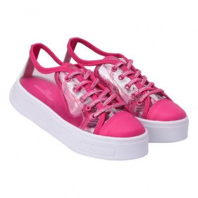 Tênis Infantil WorldColors Dance Teens - Transparente/Pink