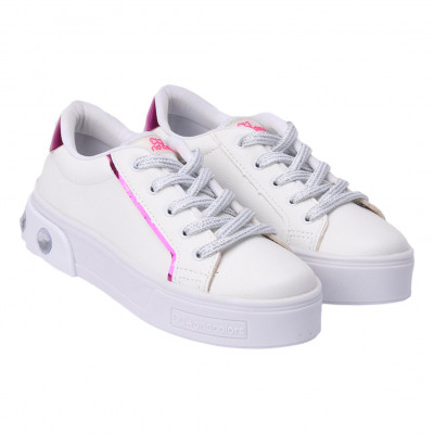Tênis Infantil WorldColors Dance Teens - Branco/Pink