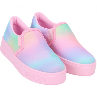 Tênis Infantil WorldColors Dance Teens - Tie Dye/Rosa