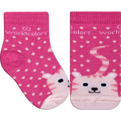 Meia Infantil WorldColors Colors Baby - Pink