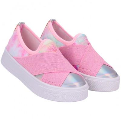 Tênis Infantil WorldColors Duda Kids - Tie Dye/rosa