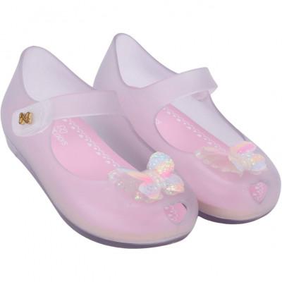 Sapatilha Infantil WorldColors Angel Baby - Transparente/Rosa BB