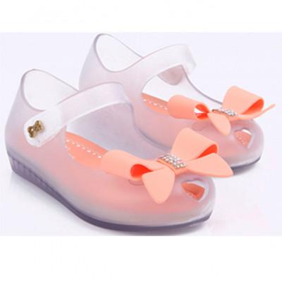 Sapatilha Infantil WorldColors Angel Baby - Transparente/papaya