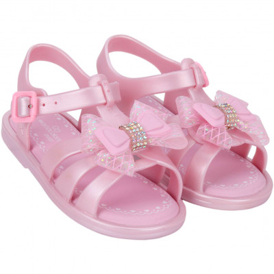 Sandália Infantil WorldColors Alice Baby - Rosa Perolado/rosa