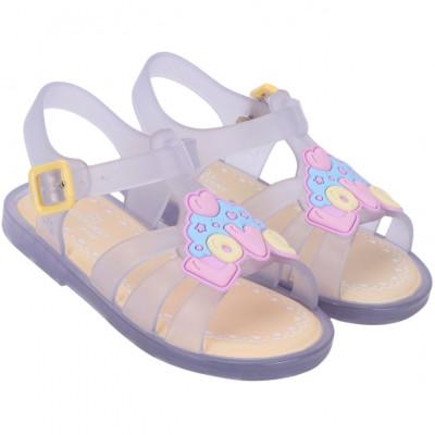 Sandália Infantil WorldColors Alice Baby - Transparente/Amarelo