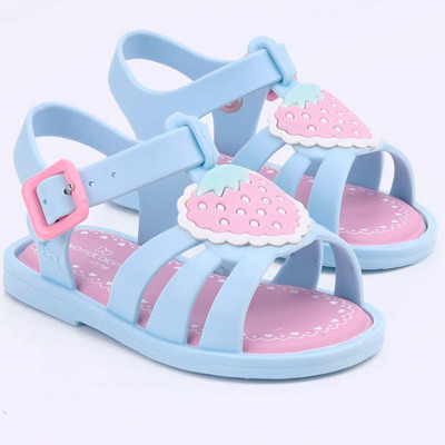 Sandália Infantil WorldColors Alice Baby- Azul Acqua/Rosa