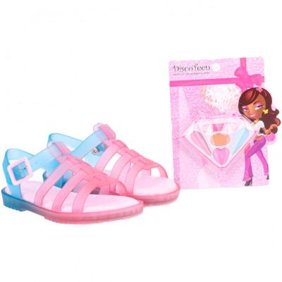 Sandália Infantil WorldColors Drops Kids - Estojo Maquiagem - Azul Royal/Pink/Rosa