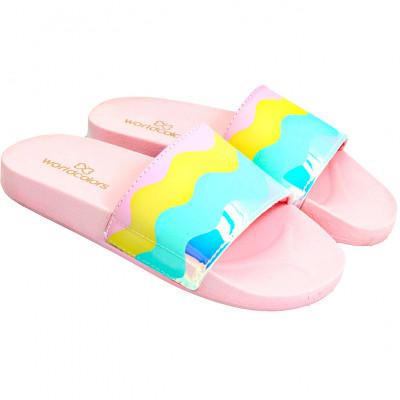 Slide Infantil WorldColors Luz Teens - Rosa BB/Colorido