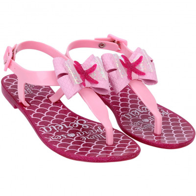 Sandália Infantil WorldColors Cake Kids - Gliter Pink/Rosa Bb