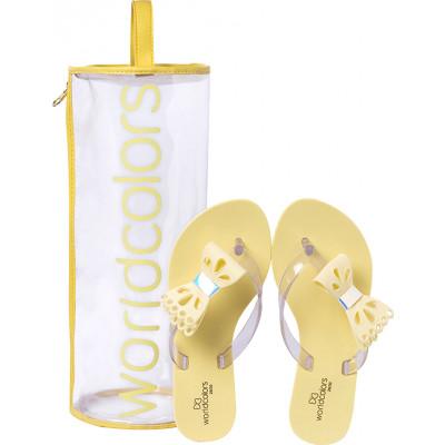 Chinelo Infantil WorldColors Summer Kids - Amarelo BB