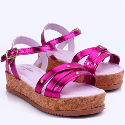 Sandália Infantil WorldColors Cherry Teens - Pink