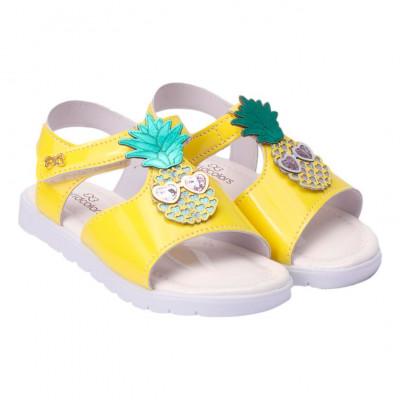 Sandália Infantil WorldColors Belinha Kids - Amarelo