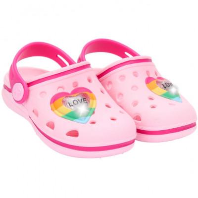 Babuche Infantil WorldColors Pop Baby com LED - Rosa Bb/Pink
