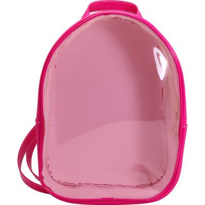 Mochila Infantil WorldColors Amora - Pink/Transparente