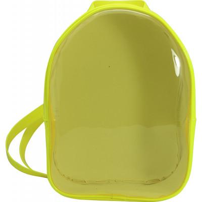 Mochila Infantil WorldColors Amora - Amarelo/Transparente