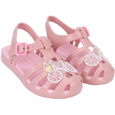 Sandália Infantil WorldColors Lilly Baby - Nude/Rosa
