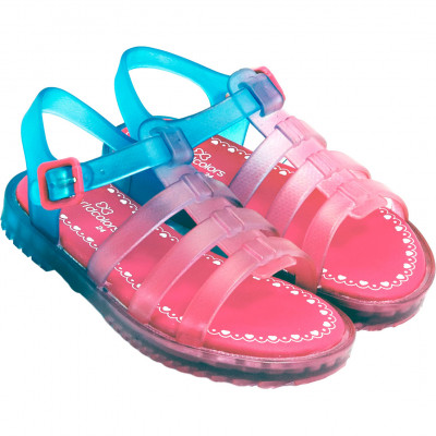 Sandália Infantil WorldColors Lilly Baby - Azul Royal/Pink