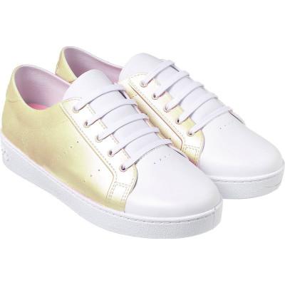 Tênis Infantil WorldColors Lady Teens - Dourado Perolado/Branco (9 a 14 anos)