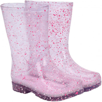 Galocha Infantil WorldColors Mia Clear - Transparente/Pink