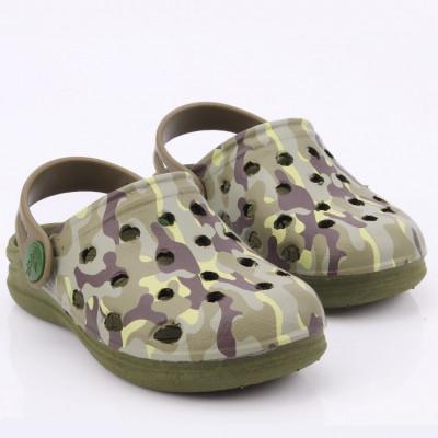 Babuche Infantil Wboys Pop Baby - Verde Militar/camuflado
