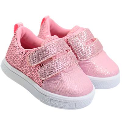 Tênis Infantil WorldColors Docinho Baby - Rosa BB