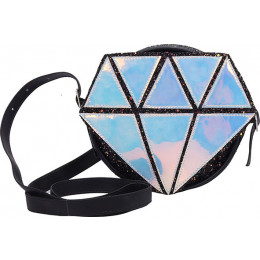 Bolsa Infantil WorldColors Diamante - Holografico/preto